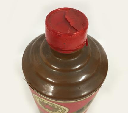 茅台酒 キャップ劣化の写真